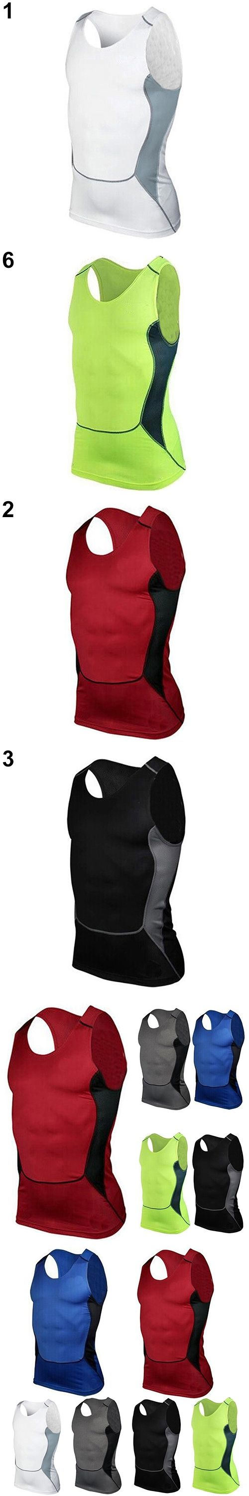 New Arrival Men's Compression Sleeveless Tight Shirts  Base Layer Vest Tank Top