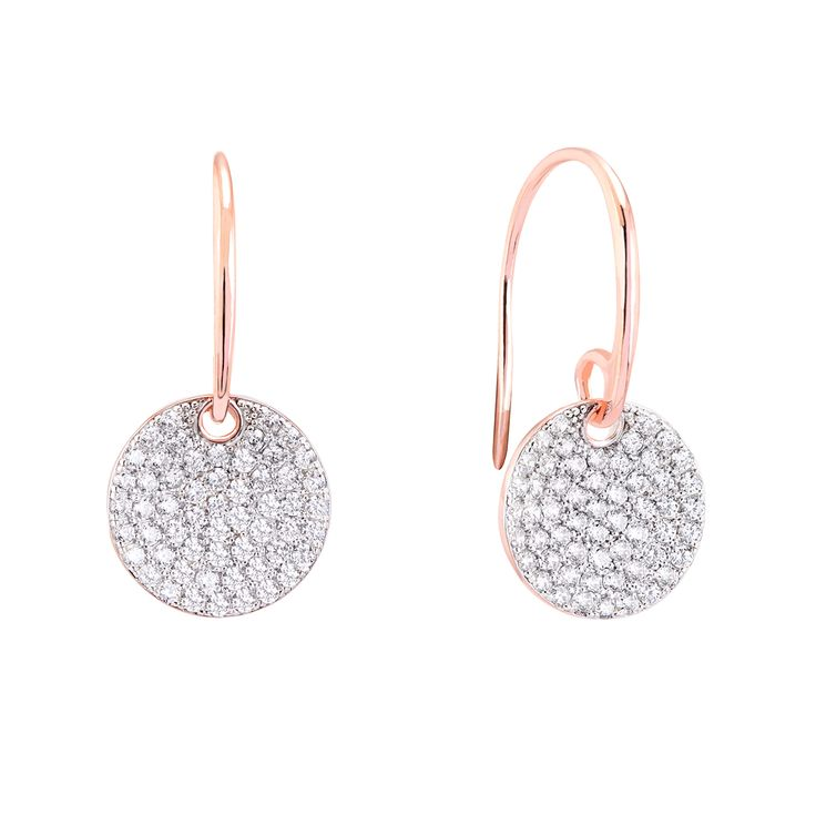 A stunning pair of Sterling Silver hoop earrings finished with AAA Grade Cubic Zirconias and Rose Gold plating.