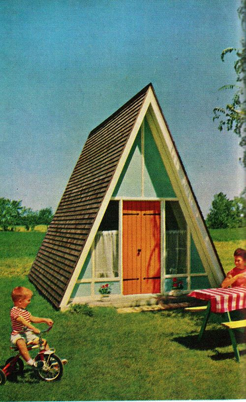 60's Playhouse. Wish I had one of these as a kid. I think it would be totally possible to make one just like it now.