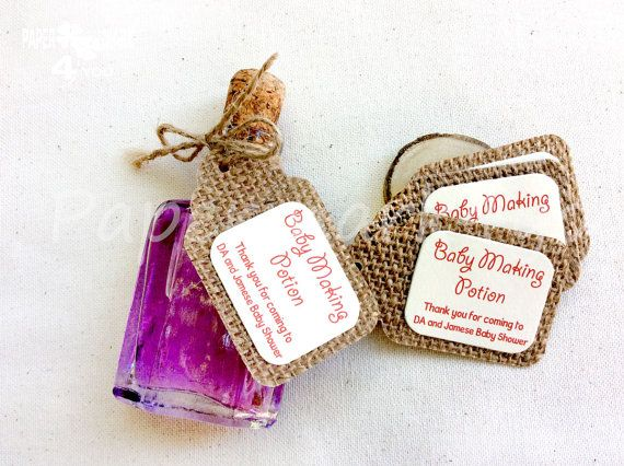 25 Burlap Baby Making Potion_ Burlap Gift Tag_ by PaperMark4You