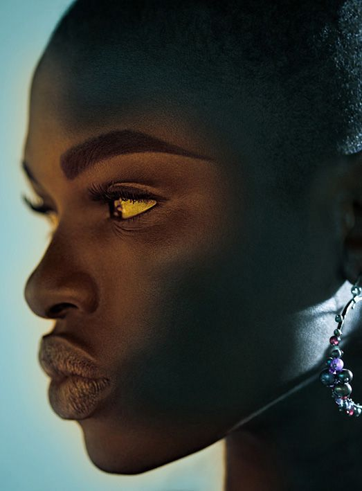 The darker the berry...She has the perfect face. If I was as Beautiful as she... I would START from HERE