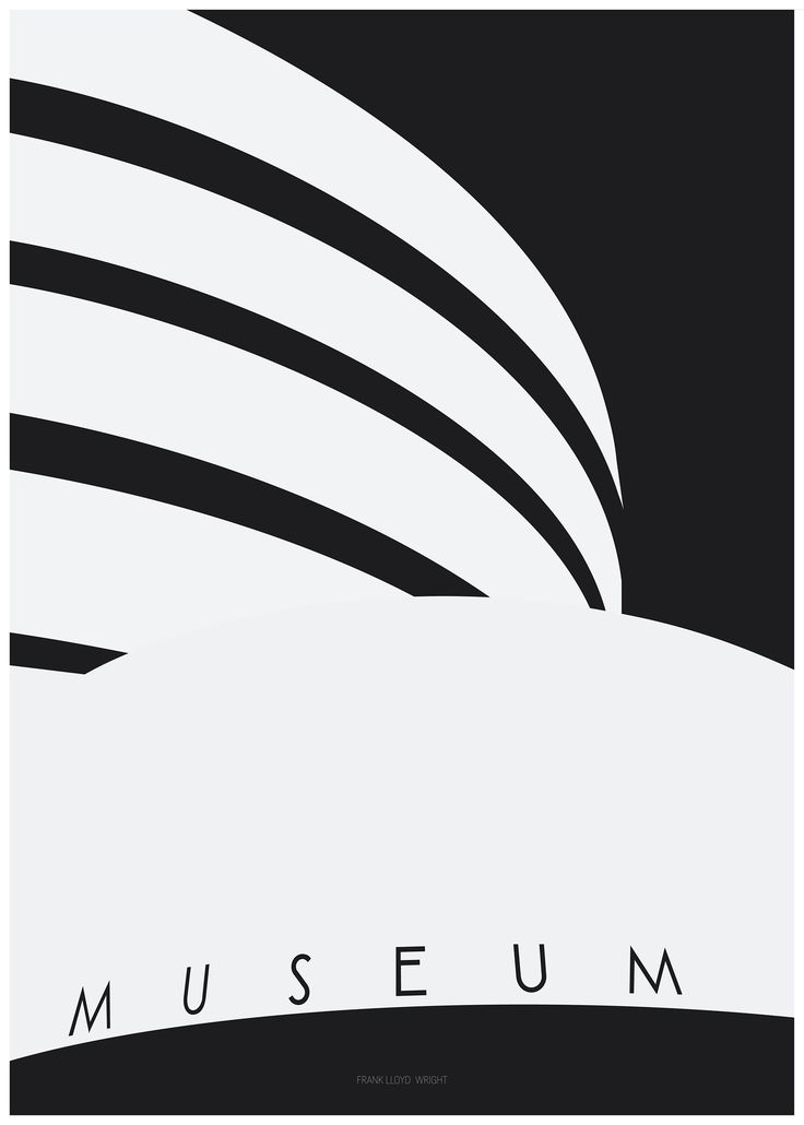 arch_it piotr zybura architecture poster no.13. Guggenheim Museum in New York by Frank Lloyd Wright. 2017