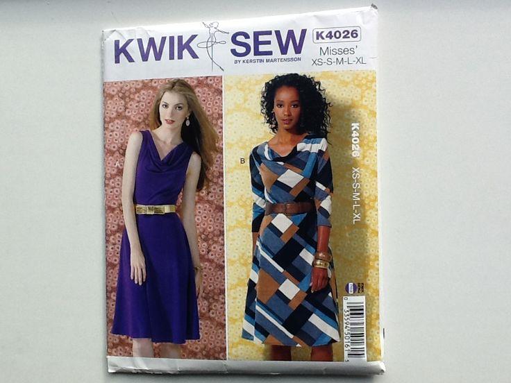 KWIK SEW K4026 - Stof van 1.50cm breed, xl, Dress A 2,20cm Dress B 2.70cm.