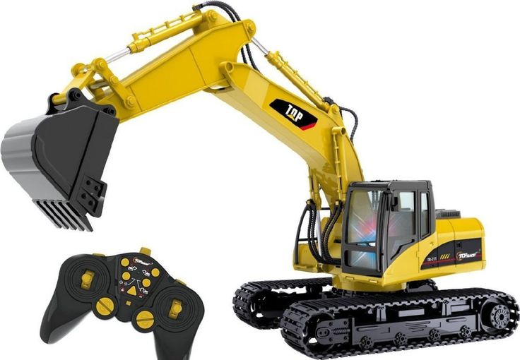 RC Excavator Construction Tractor Truck Electric Remote Control Battery Gift