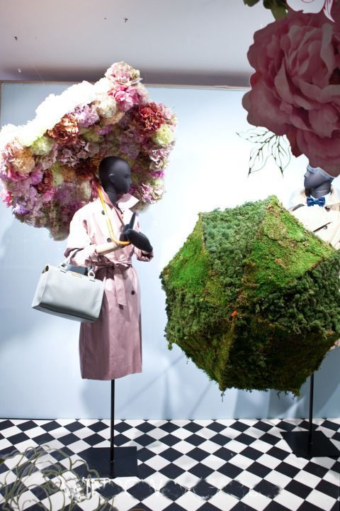 spring window display flower shop - Google Search