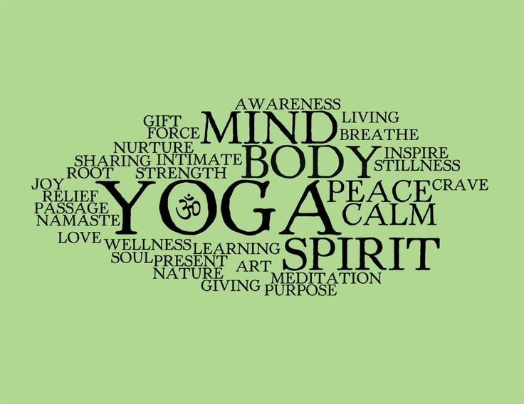 Yoga Word Collage - 8x10 Art Print. $12.99, via Etsy.