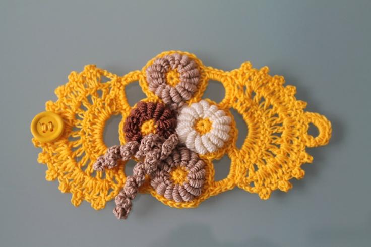 Freeform Crochet Bracelet. via Etsy.