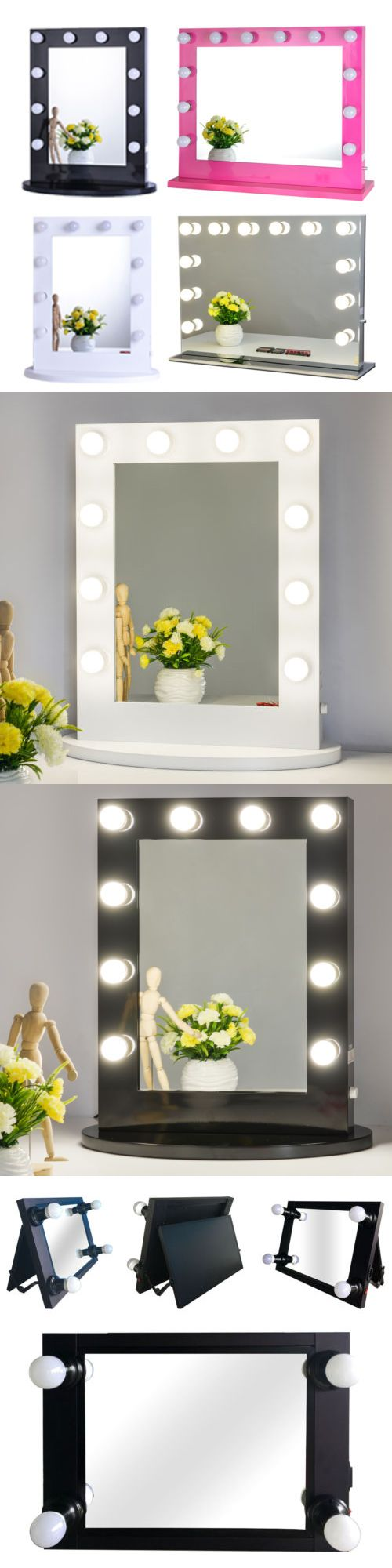 Makeup Mirrors: Hollywood Makeup Vanity Mirror With Light Aluminum Stage Beauty Mirror -> BUY IT NOW ONLY: $225.99 on eBay!