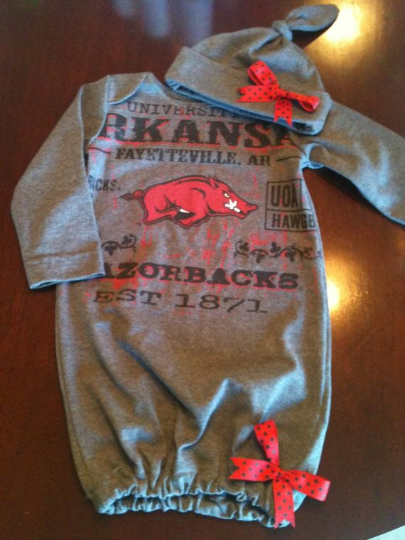 Newborn Baby Gown. $35.00, via Etsy.  T shirt made into newborn baby gown