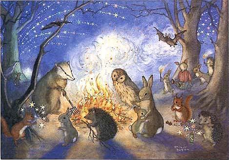 Bonfire Night by Molly Brett - l had this on my wall as a child. I love molly brett.