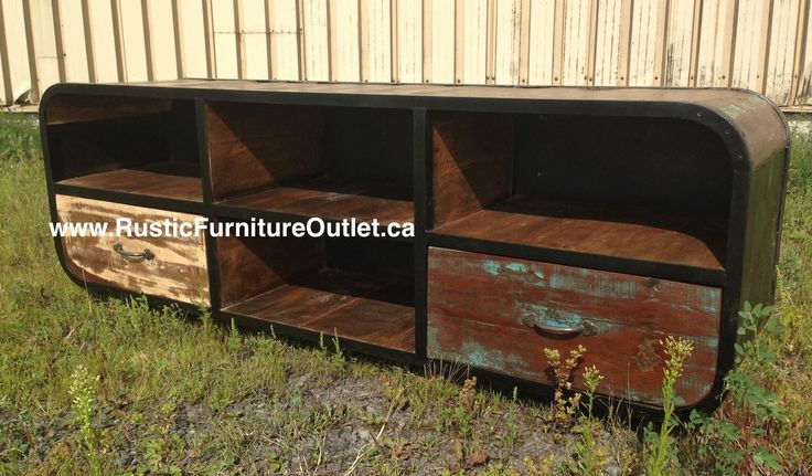 Vintage wood Tv stand, save 1000$ by buying it here www.rusticfurnitureoutlet.ca