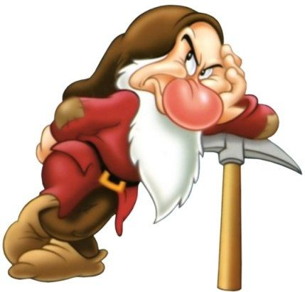Grumpy dwarf Snow White and the Seven Dwarfs Walt Disney movie animation