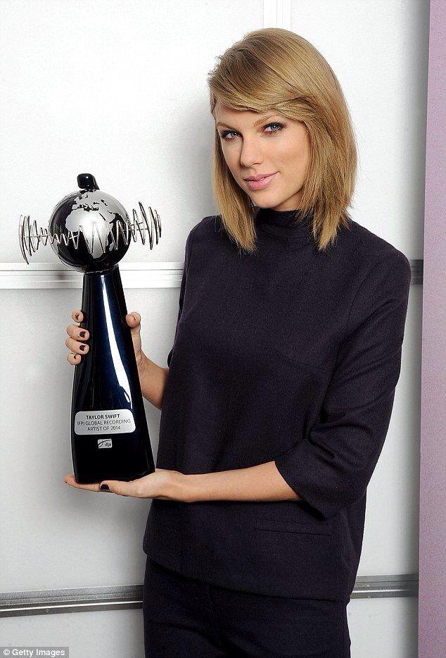 IFPI Global Recording Artist of 2014!  -Taylor Swift-