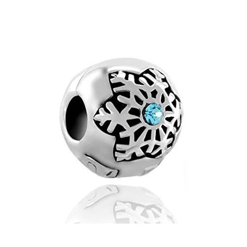c91b5b79c ... Pack of 10 Beads Wholesale Crystal Snowflake Open Clip Lock Stopper Charm  Fit Pandora Bracelets - 925 Sterling Silver Love Heart ...