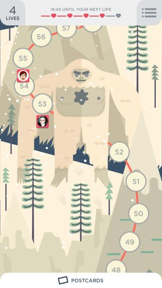 Two Dots iPhone illustration, home, games, maps screenshot