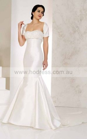 Sweetheart Lace Empire Buttons Wedding Dresses gkcf1003--Hodress