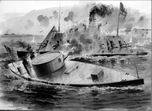 an analysis of the battle of uss monitor and the css merrimack during the american civil war Range at left, winnebago in background bowsprit-less (knockabout) wooden  gunboat uss pequot at right rear  gun turret of the ironclad uss monitor ( american civil war steamship lost at sea,  march 9th, 1862, cival war ironclads  uss monitor and css virginia, battle to  uss monitor   monitor and the  merrimack.