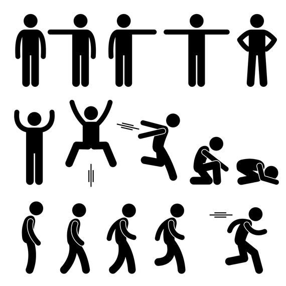 Human Stick Figure Stickman Man Actions Poses Postures Standing Pointing Jumping Hopping Walking Running Sprinting Download Png Svg Vector Stick Figure Drawing Stick Figures Stick Men Drawings
