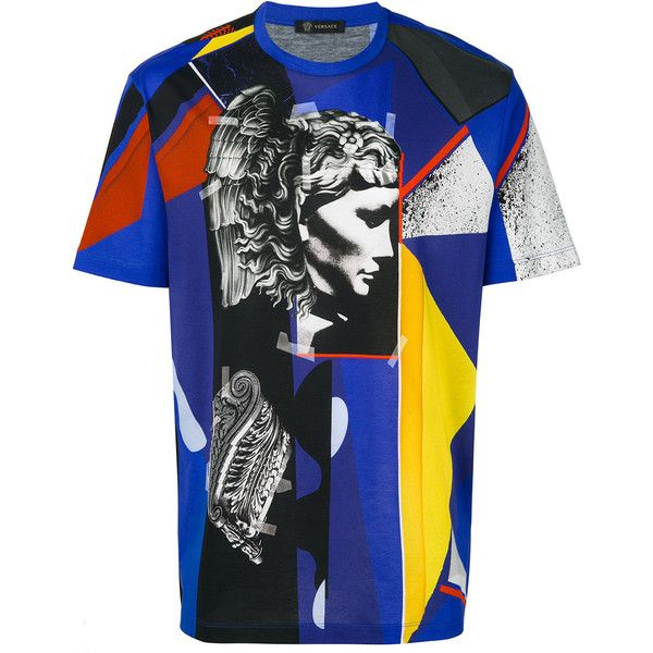 Versace geometric Medusa T-shirt (2,335 SAR) ❤ liked on Polyvore featuring men's fashion, men's clothing, men's shirts, men's t-shirts, mens graphic t shirts, geometric mens shirts, mens cotton shirts, versace mens t shirt and mens leopard print t shirt
