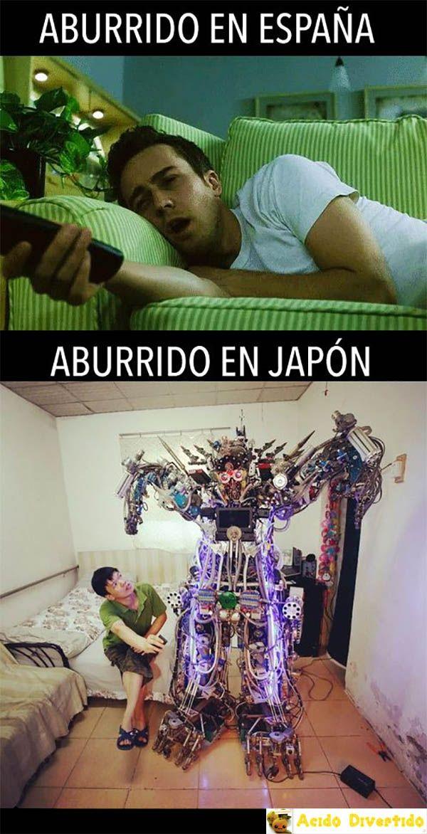 Aburrido en España, aburrido en Japón jiji