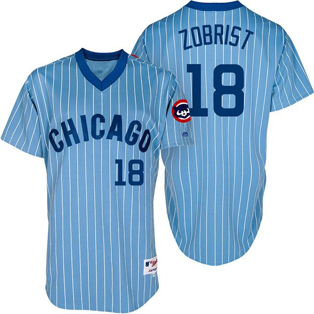 8177e0c1a9c ... Chicago Cubs 1981 Throwback Ben Zobrist Majestic Athletic jersey Ben  zobrist