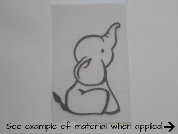 E63 in vendita! Sweet Baby Boy elefante Ellie Gray gregge DIY calore applicato ferro sul trasferimento perfetto per Onesie del bambino camicia Decal pronte a spedire!