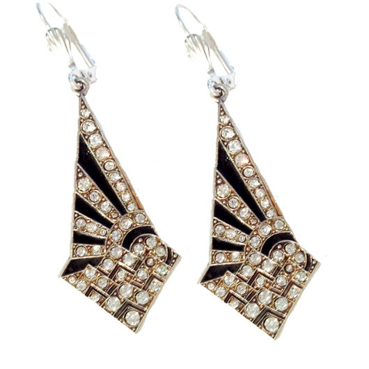 Art Deco Sunburst Earrings One Of Many Pieces Beautiful Reproduction Jewellery In