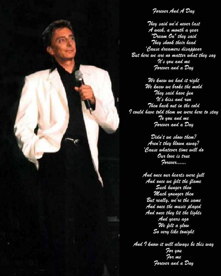 420 best barry manilow i love him images on pinterest barry the song forever and a day says it all beautifully and eloquently bookmarktalkfo Image collections