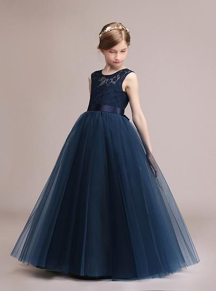c43f683da10 Dark Navy Junior Bridesmaid Dresses