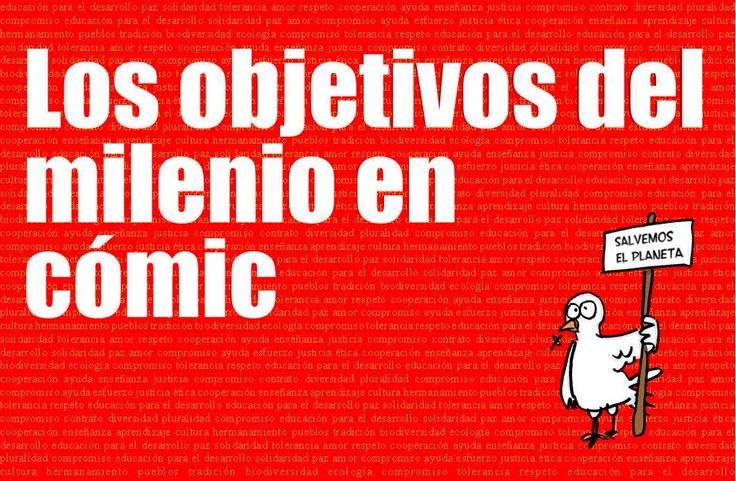 Cómic de los ODM de Pedro J. Cifuentes(@krispamparo). II edición del Premio Nacional de Educación para el Desarrollo Vicente Ferrer