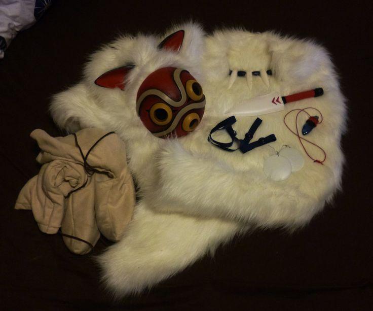 Princess Mononoke: San's Costume Accessory Pieces. by LauraNeocleous