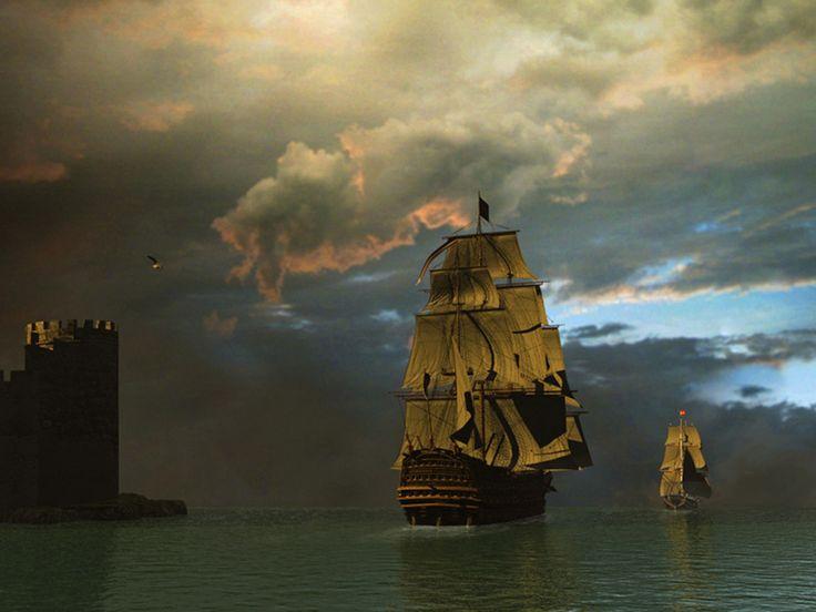 screen decoration: Free 3D Sailing Ship 1600 x 1200 Pixel HD Wallpapers.