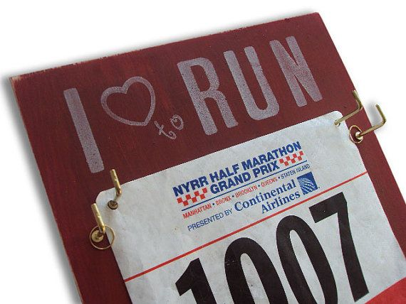 Race bibs display!! I have saved all my race bibs for memories now I want this to display them!!! =)