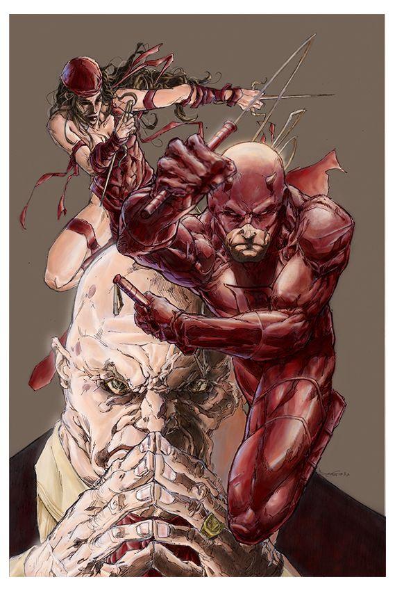 Daredevil, Elektra & Kingpin - Barnaby Bagenda