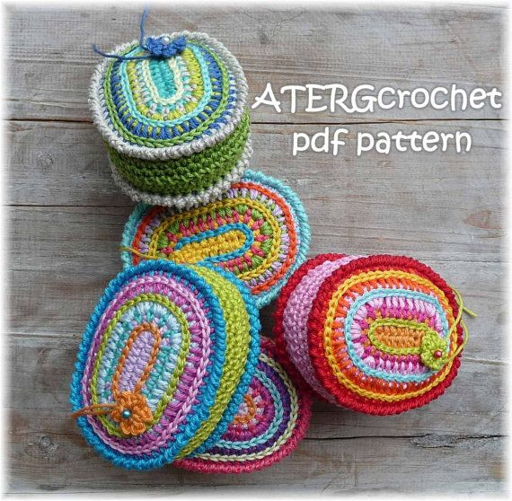 Crochet modello puntaspilli ovale di ATERGcrochet di ATERGcrochet