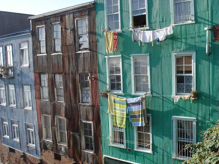 Local houses, Valparaiso, Chile