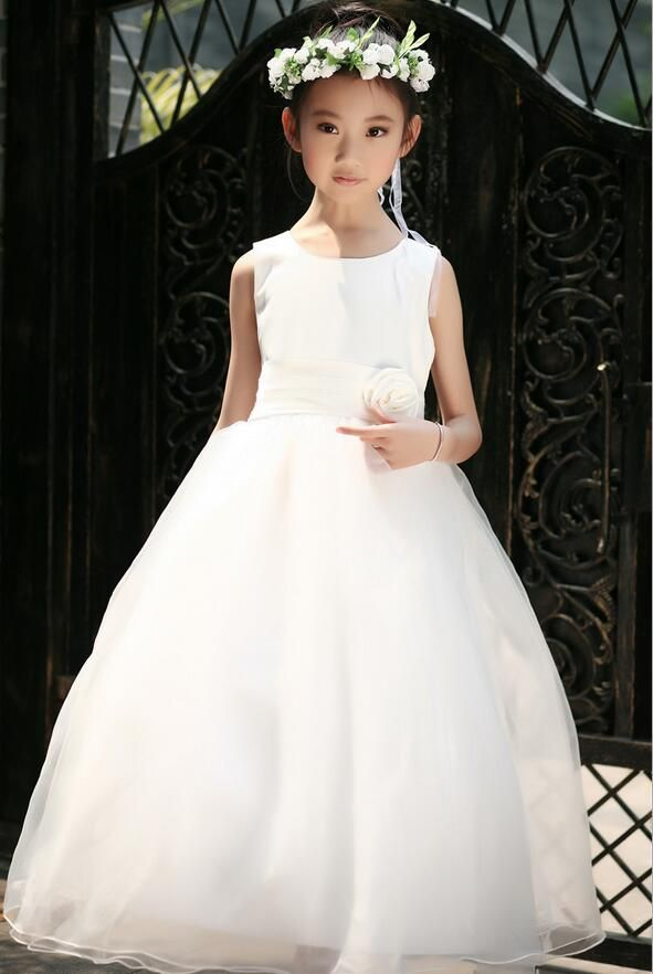 >> Click to Buy << 2017 Summer First Communion dresses for Teen Girls wedding Birthay Party Long dresses Kids Princess Frocks 4 6 8 10 12 Years #Affiliate