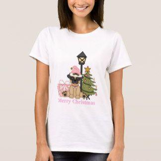 Christmas pug holiday T shirt