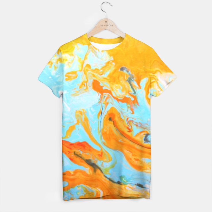 orange moon light T-shirt, Live Heroes
