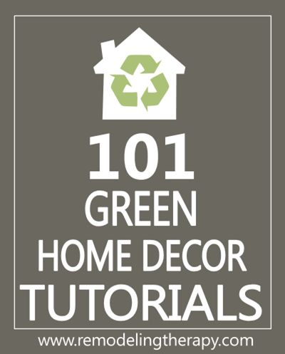 101 Green Handmade Gift Tutorials - EverythingEtsy.com