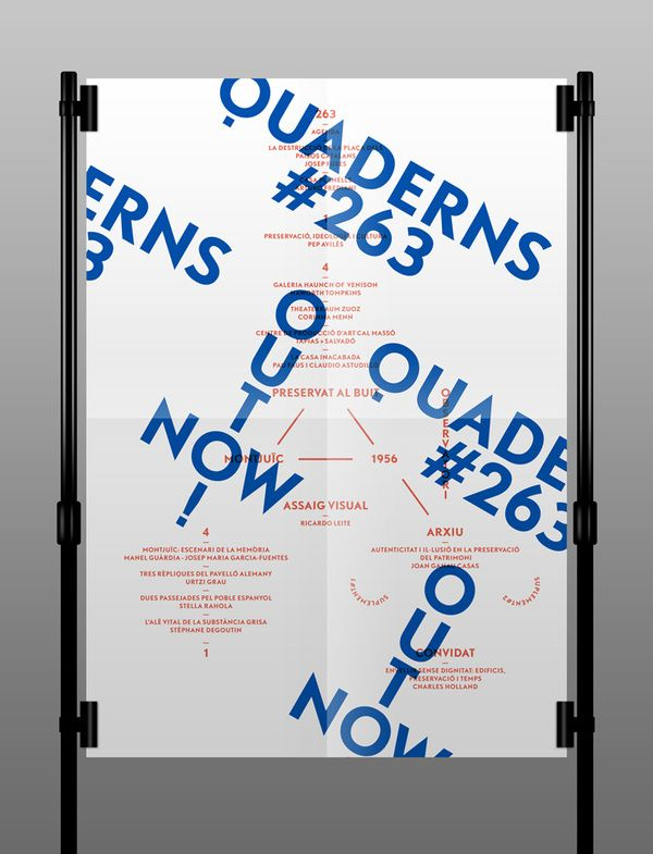 Quaderns Poster by TwoPoints.Net , via Behance: Projects, Twopoint Net, Picture-Black Posters, Posts, Graphics Design, Quadern Posters, International Bureau, Twopointsnet, Points Posters