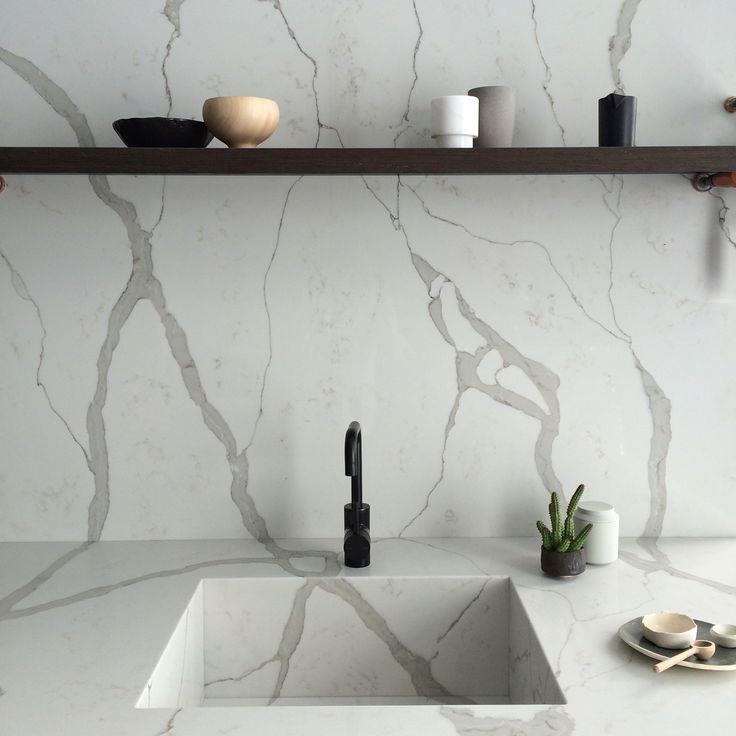 Calacatta Quartz Kitchens: Smartstone Quartz Surfaces - Calacatta Blanco