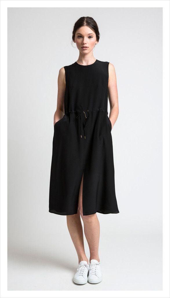split dress, silk | juliette hogan
