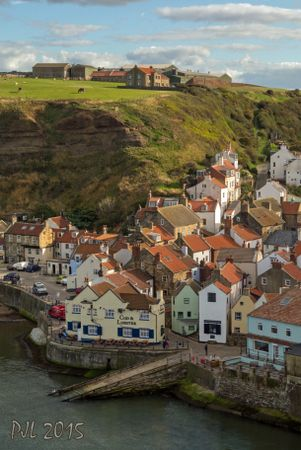 Staithes -  a seaside village in the Scarborough Borough of North Yorkshire, England