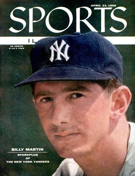 Billy Martin of The Yankees April 23 1956