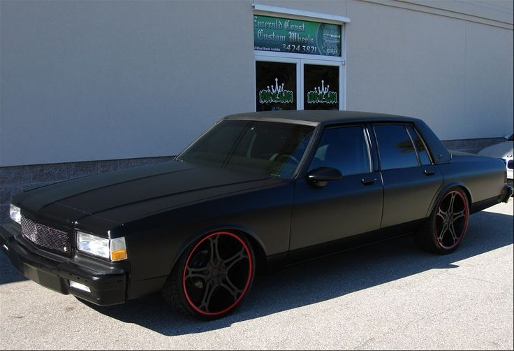 90 caprice in satin black - Custom box chevy caprice interior ...