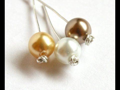 Easy Knotted Headpin Tutorial using Thin Gauge Wire ~ The Beading Gem's Journal