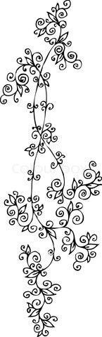 Vector of 'Refined Floral vignette CCLVI'