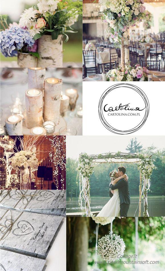 zaproszenia ślubne brzoza inspiracje