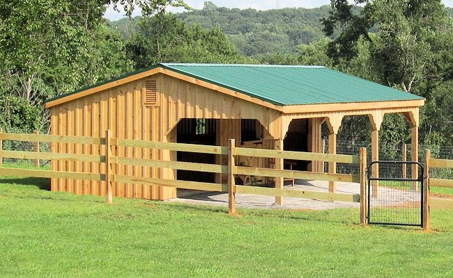 When barn with an overhang is ordered we strongly for Horse barn plans and prices